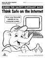 Internet safety colouring pages elmer the safety for Internet safety coloring pages
